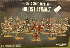 Warhammer 40K Chaos Space Marines CULTIST ASSAULT Squad New Sealed (21 figures)