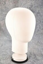 PVC Mannequin Manikin Head And Sucker Stand for Wig Toupee Display Styling White