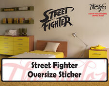 Street Fighter Custom Oversize Vinyl Wall Sticker