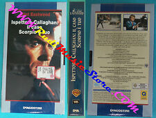 film VHS cartonata ISPETTORE CALLAGHAN CASO SCORPIO Eastwood SEALED(F77)no dvd