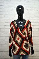 Blusa Maglia Donna RALPH LAUREN Taglia L Polo Maglietta Manica 3/4 Shirt Woman