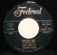 "45Re ✦ LULU REED & FREDDIE KING ✦ ""You Can't Hide"" Killer Rockin' Duet Dancer ♫"