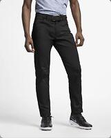 NWT Nike Men's 31x35 Flex Unhemmed Golf Pants Slim Fit Black AJ6317 010 NEW