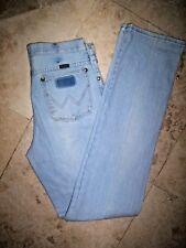 mens vintage wranglers light wash denim jeans pants size 31 x 38, buffalo nickel