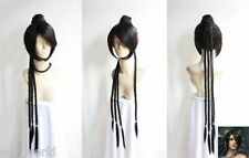 Final Fantasy Lulu Cosplay Long Wig Animation Cos Wig Hair+Gift Hairnet