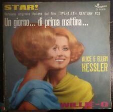 Alice & Ellen Kessler-Star!/Willie-O 45 giri 1968 NM OST Un giorno... Promo