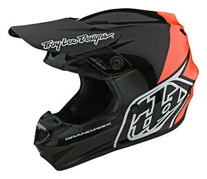 2021 TROY LEE DESIGNS TLD GP HELMET ADULT BLOCK BLACK ORANGE MOTOCROSS NEW CHEAP
