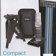 Camera Starter Kit Vivitar Compact Digital Cleaning Kit Tripod Case Software NEW