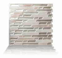 Tic Tac Tiles® - Premium 3D Peel & Stick Wall Tile in Como Sand (5 sheets)
