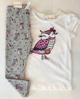 Gymboree Girls Owl Shirt & Owl Leggings 3T NWT
