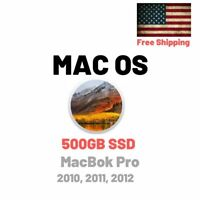 500GB SSD For Apple Macbook Pro 2010 2011 2012 El Capitan High Sierra Mojave