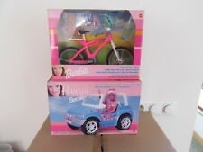 Barbie hawaii strandauto en terein fiets.