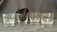 Krosno Poland Vintage set of 4 350ml Hand Made Glassware MINT CONDITION