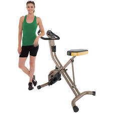 EXERPEUTIC GOLD 500 XLS Foldable Upright Folding Bike Gym Cardio Exercise Home