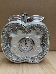 New  Ceramic Crushed Crystal Diamond Apple Style Clock