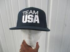 VINTAGE NIKE USA OLYMPIC TEAM LONDON 2012 BLUE SEWN SNAPBACK HAT CAP