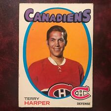 1971-72 O-Pee-Chee OPC Set TERRY HARPER #59 MONTREAL CANADIENS - VG-EX