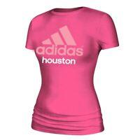 """Adidas Women's Solar Pink Adi EQT Logo """"Houston"""" Short Sleeve T-Shirt"""