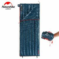 Naturehike CW280 Compact Down Envelope Sleeping Bag Navy Blue