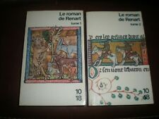 LE ROMAN DE RENART - LOT DES 2 TOMES EDITION BILINGUE 1985 COLLECTION 10/18
