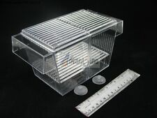 "6"" 2-in-1 Single Acrylic Fish Spawn Hatchery/Breeder Box with lid(SHIP FROM USA)"