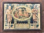 Gurukula View Print Adi Shankara Shankaracharya Framed Antique Vintage Old B29
