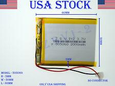 3.7V 2000mAh 505060 Lithium Polymer LiPo Rechargeable Battery (USA STOCK)