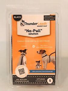 ThunderLeash No-Pull BLACK Tape Leash SMALL 12 To 25 lbs 6 Feet SEALED IN BOX