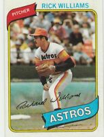 FREE SHIPPING-MINT-1980 TOPPS #69 RICK WILLIAMS ASTROS (FACSIMILE AUTOGRAPH)