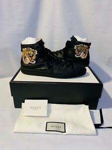 Gucci Leather High Top Tiger  Men's Sneaker 10½G / US 11½ Retail price $ 930.