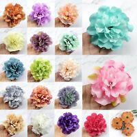 "4"" Multicolor 10/30Pcs Large Peony Rose Artificial Fake Silk flower Heads Decor"