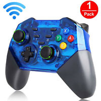Wireless Pro Controller Remote Gamepad for Nintendo Switch Console Black/Blue