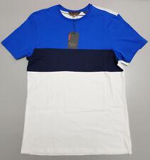 Ben Sherman Small Blue Navy White Striped Cotton T-shirt BSBO2102
