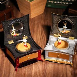 Vintage Ballet Dancing Ballerina Music Jewelry Storage Trinket Box Home Ornament