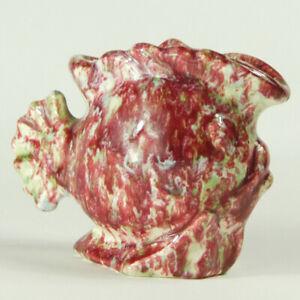 Pates Pottery Pink/Mint Fish Vase