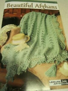 Booklet BEAUTIFUL AFGHANS Crochet Craft 3 Patterns Leisure Arts 18 page 2000