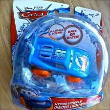 Disney PIXAR Cars DINOCO LIGHTNING MCQUEEN Hydro Wheels bath toy water pull-back