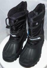 Trespass Kids Dodo Winter Snow Boots, in black, uk 12, Free P&P