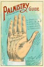 BEAUTIFUL PALMISTRY GUIDE PALM READER POSTER FRAMEABLE PERFECT GIFT FOR HOLIDAY