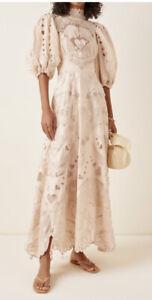 Size 0: US4 Zimmermann Lovestruck Gown Dress -BNWT- RRP$6,500 AUD