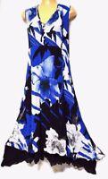 TS dress TAKING SHAPE plus size XS / 14 Blue Floral Dress knife pleat NWT rp$170