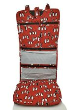 Vera Bradley Hanging Organizer Playful Penguins Cabernet Red NEW