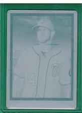 2014 TOPPS TURKEY RED BRYCE HARPER CYAN PRINTING PLATE 1/1 NATIONALS