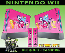 NINTENDO WII STICKER MY LITTLE PONY RAINBOW TWILIGHT SKIN GRAPHICS & 2 PAD SKINS