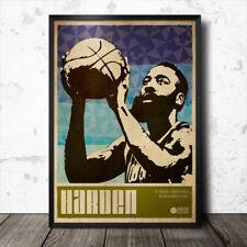 James Harden Poster Artistico Sport Basket Lebron James Houston Rockets