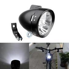 LED Luz Faro Lámpara Foco Delantero Frontal con Soporte para Bicicleta Retro