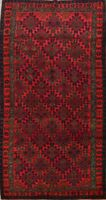 6x10 Vintage Tribal Abadeh Oriental Area Rug Geometric Hand-Knotted Wool Carpet