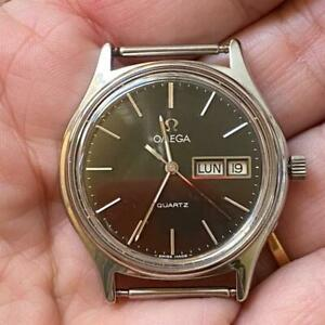 OMEGA QUARTZ DAY-DATE 196.0123 NEW OLD STOCK VINTAGE WATCH 100% GENUINE 35MM