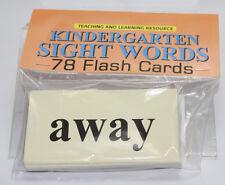 78 Sight Word - Flash Cards  Pre-school - Kindergarten  Teaching supplies
