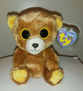 Ty Beanie Boos - HONEY the Brown Bear (UK Version)(6 Inch) MINT with MINT TAGS